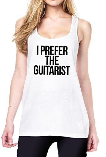 I Prefer The Guitarist Tanktop Girls White