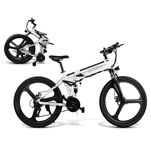 🥇 Coolautoparts Bicicleta Eléctrica PLEGABLE 350W/500W 26 Pulgadas para Hombres Mujeres de Aluminio Bicicleta de Montaña/Carretera/Ciudad con 48V 10AH Batería Removible Shimano 21 Velocidades [EU Stock]