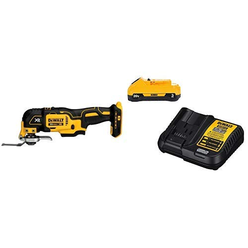 DEWALT DCS355B 20V XR Oscillating Multi-Tool (Tool Only) with DCB230C 20V Battery Pack