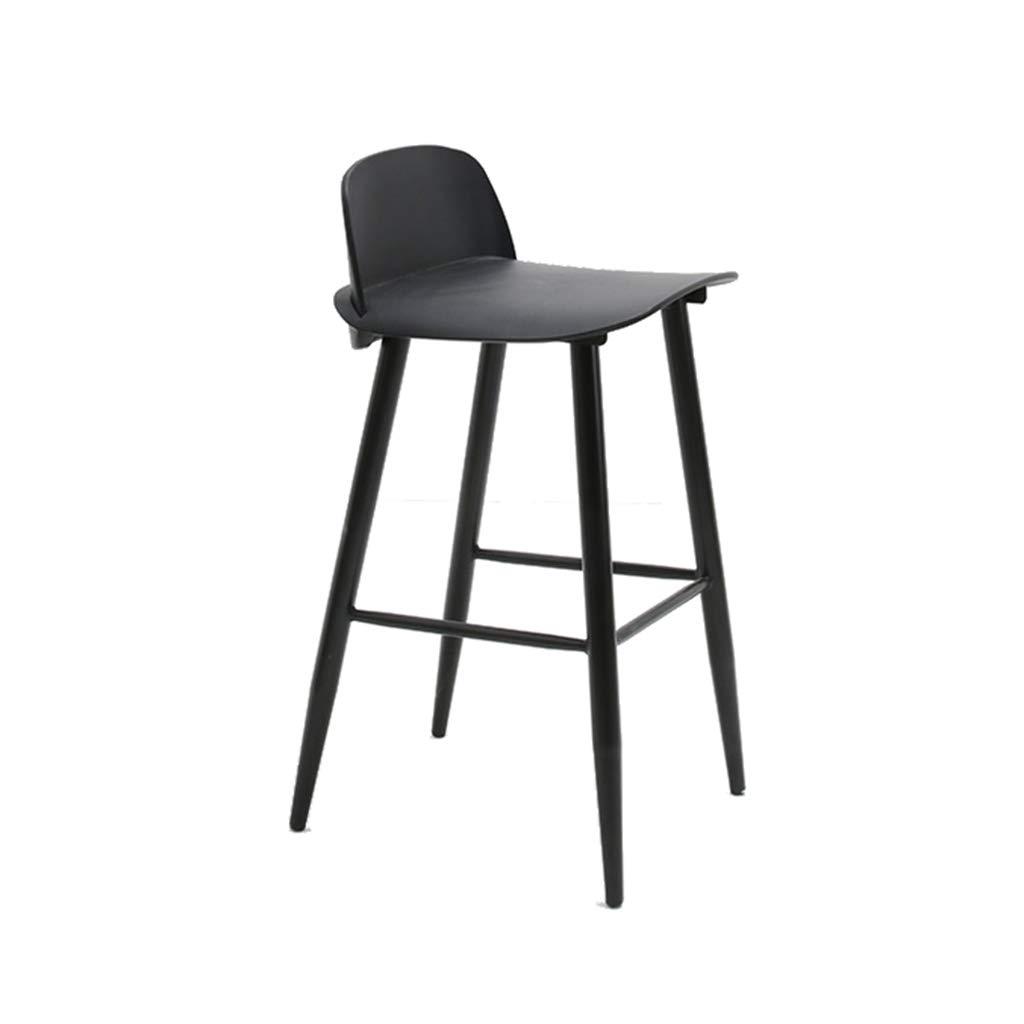 BLACK AODISHA Bar High Stool, Cafe Bar Chair Bar Stool Restaurant Tea Shop A Fast Food Shop Iron Art Dining Chair 53  45.5  92CM More Comfort (color   Pink)