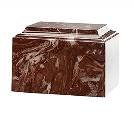 Trinityurns Classic Cultured Marble Cremation Urn for Human Ashes – Adult Large Size, Marble Urn, Adult Affordable Urn for Human Ashes Suitable for Ground Burial or Home Memorial Mission Black