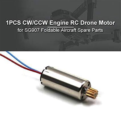 Jensea1PCS CW//CCW Motor RC Drone Motor para SG907 Accesorios de helic/ópteros de aviones plegables UAV Componente de piezas de repuesto Color: Plata # 3