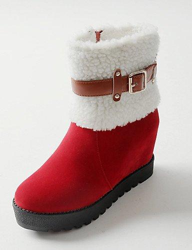 Botas Redonda Red Negro Mujer Zapatos Xzz De Nieve 8 Cuña Rojo Casual us8 Cn39 10 Eu41 Comfort Cn42 Uk7 Black Tacón Uk6 Eu39 Vellón us9 Punta Vestido 5 Cuñas 5 0qvaxnad