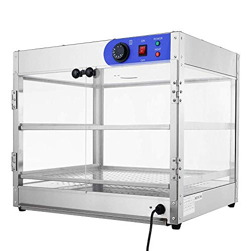 SUNCOO Commercial Countertop Hot Food Warmer Display Case for Restaurant Heated Cabinet Pizza Empanda Pastry Patty (24