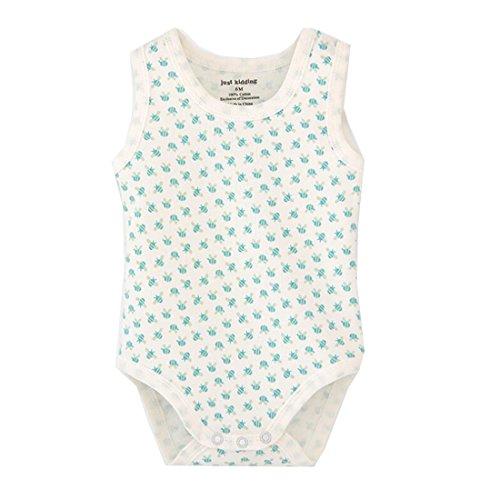 Unisex-Baby Sleeveless Onsies Tank Top Cotton Baby Bodysuit Pack of Cardigan Onsies for Infants