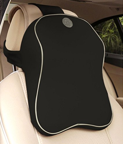 Anyshock-Car-Headrest-Memory-Foam-Car-Neck-Pillow-Travel-Auto-Head-Neck-Rest-Cushion-with-Ergonomically-for-Adjust-Sitting-Position-Relief-Pain-of-BackSpineCoccyx-in-TravelOfficeHomeCarBlack