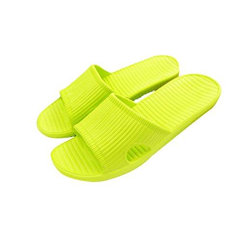 Tellw Eva Zomer Indoor Antislip Eenvoudige Mannen Slippers Koppels Badkamer Plastic Slippers Strand Slippers Groen