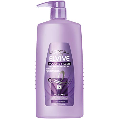L'Oréal Paris Elvive Volume Filler Thickening Cleansing Shampoo, for Fine or Thin Hair, Shampoo with Filloxane, for Thicker Fuller Hair in 1 Use, 28 fl. oz. (Best Products To Add Volume To Hair)