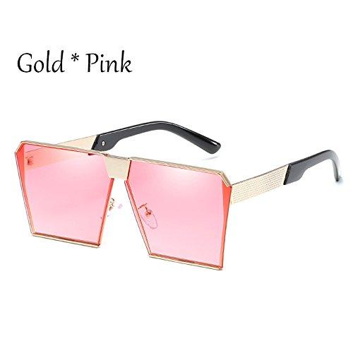 Sol C2 Uv356 Cuadradas Silver Silver G Estilos Gafas Tonos De 17 Pink Sol Mujer C15 Vintage Damas Silver Enormes Gafas Unas Hombre De TIANLIANG04 TvUqUS