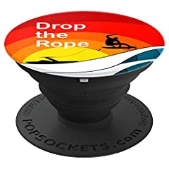 Wake Surf Popsocket. Weight the boat down with ballast and add a shaper or wedge. Take the board from the storage rack on the tower, grab the handle and jump in the water. Use the rope, but it's not wakeboarding, so let go and you're boatsurf...