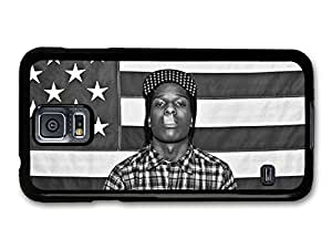 AMAF ? Accessories ASAP Rocky Rapper Portrait Smoking with American Flag case for Samsung Galaxy S5 wangjiang maoyi