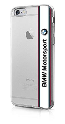 BMW Motorsport TPU Case - Transparent - Horizontal Logo - White iPhone 6/6s