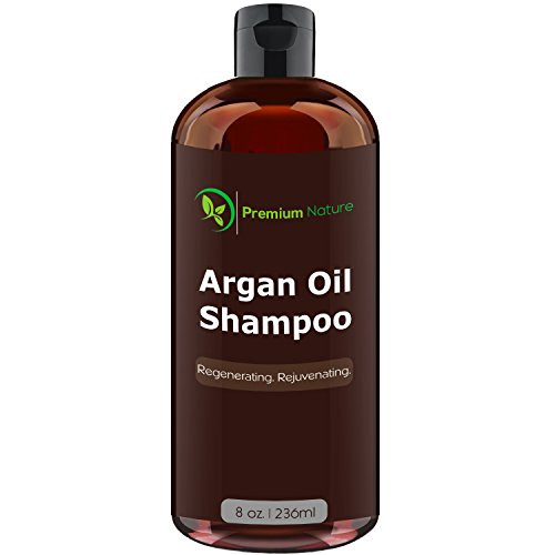 Argan Oil Shampoo 8 oz by Premium - Protectant Nature Shampoo