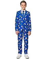 Suitmeister Christmas Suits for Boys in Various Styles - Jacket, Pants & Tie