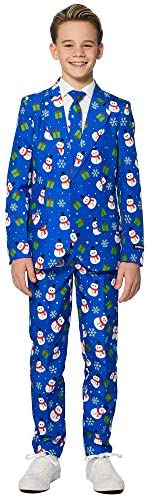 Suitmeister Christmas Suits for Boys - Includes Jacket, Pants &