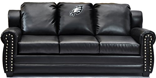 Imperial Officially Licensed NFL Furniture: Coach Leather Sofa/Couch,  Philadelphia Eagles