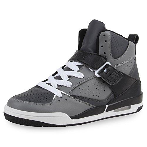 Paradis Des Bottes Cultz Unisexe Hommes Chaussures De Sport, Basket-ball Sur La Taille Flandell Gris Noir Brooklyn