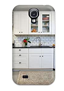 Hot Snap-on Kitchen With White Cabinets Amp Subway Tile Backsplash Hard Cover Case/ Protective Case For Galaxy S4