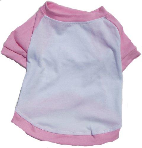 (Dog T-Shirt Pink Baseball Small)