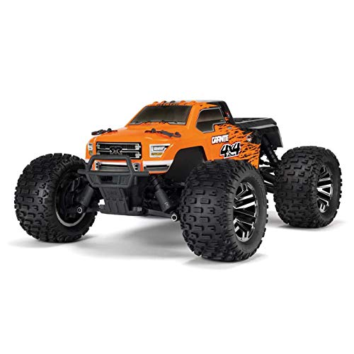 ARRMA 1/10 GRANITE 4X4 3S BLX Brushless 4WD RC Monster Truck RTR with 2.4GHz Spektrum Radio (Battery Not Included), Orange/Black (ARA102720T1)