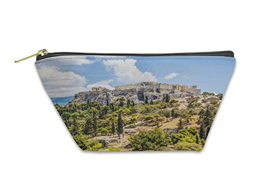 Greece View Acropolis Athens - Gear New Accessory Zipper Pouch, Beautiful View Of Ancient Acropolis Athens Greece, Small, 5591362GN