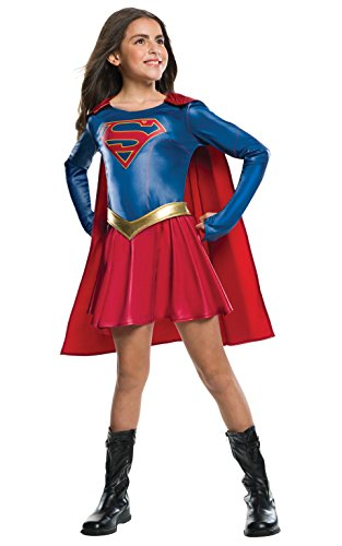 Costume Shoes Superwoman (Rubie's Costume Kids Supergirl TV Show Costume,)