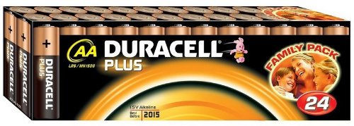 Duracell Plus 038882 AA/LR06/MN1500 AA Batteries Pack of 24