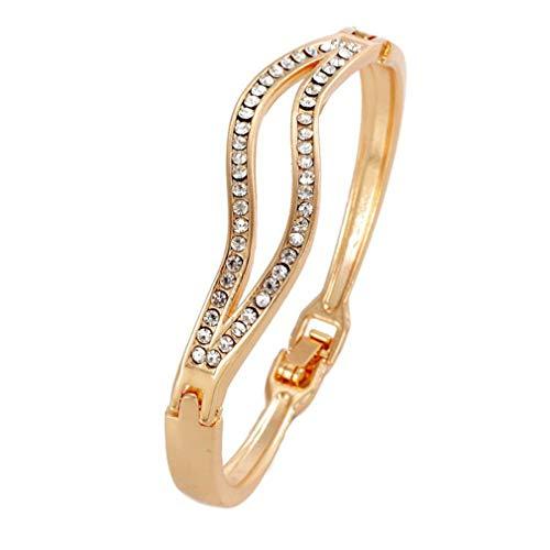 Hotesea Cuff Bracelet for Women Jewelry Vintage Punk Maxi Crystal Bracelets & Bangles ()