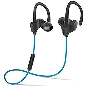 JIGAZO Bluetooth 4.1 in-Ear Noise Isolating Sport Earbuds Earphone (Blue)