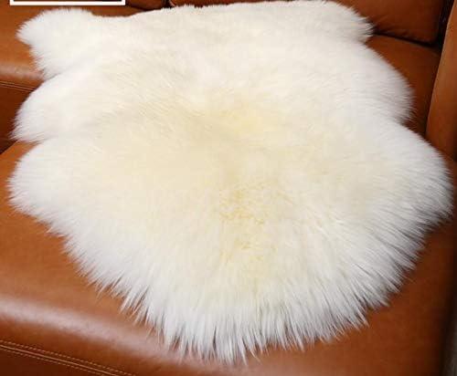 2but Genuine Sheepskin Rug, Luxuxry Fur Rug for Bedroom, Fluffy Rug for Living Room White