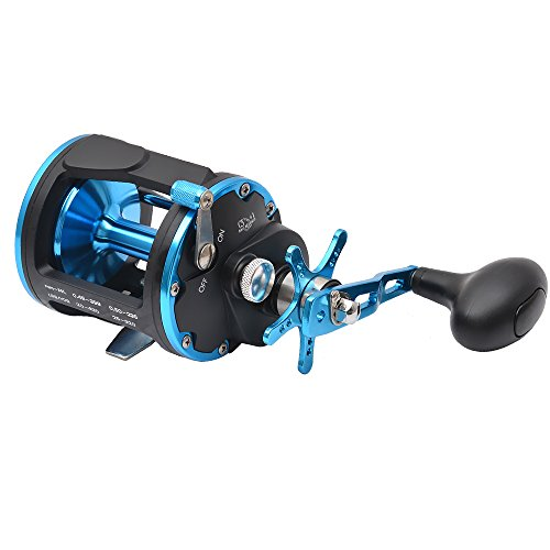 (Singnol High Speed ACT40 Conventional Saltwater Trolling Reels Right Hand Offshore Heavy Duty Salt Water Drag Casting Reel)