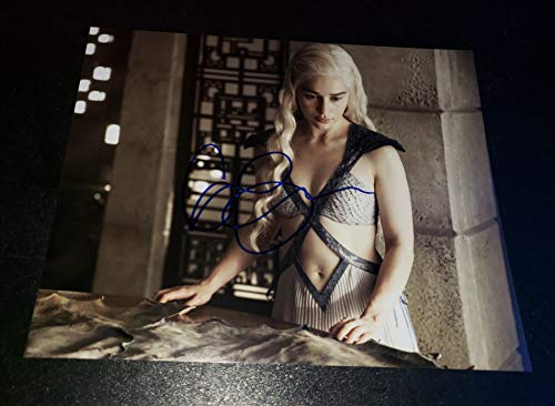 EMILIA CLARKE - Autographed Signed 8x10 inch Photograph - GAME OF THRONES