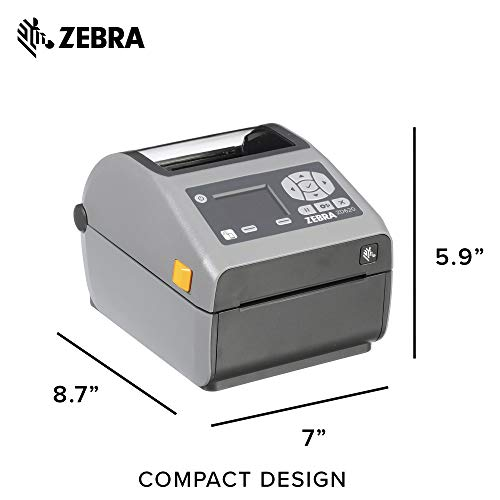 Zebra - ZD620d Direct Thermal Desktop Printer with LCD Screen - Print Width 4 in - 203 dpi - Interface: Bluetooth LE, Ethernet, Serial, USB - ZD62142-D01F00EZ by Zebra Technologies (Image #5)