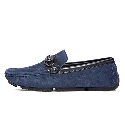 27 tamaño liviano Suave 24 Confortables Gommino Zgsjbmh de Pisos de Negocios para Corte Mocasín Mocasín 0cm 42 0cm Zapatos Diseño Ante Zapatos Hombre y Azul Tamaño bajo de único EU Gommino de twCSqC