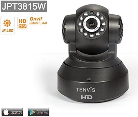 Tenvis JPT3815W Cámara IP de seguridad en HD 720p 1280x720 H264 - Alarma detección de movimiento - Motorizado - Visión Nocturna - Bidireccional sonido ...