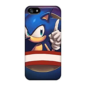 Xsa1340rCBS Tpu Phone Case With Fashionable Look For Iphone 5/5s - Sonic The Hedgehog
