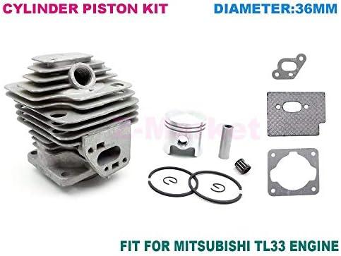 Kit de pistón de cilindro 36 mm para MITSUBISH TL33 Desbrozadora ...