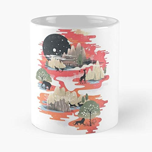 Landscapes Nature Whimsy - Coffee Mugs Unique Ceramic Novelty Cup