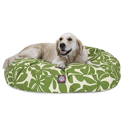 Sage Plantation Large Round Indoor Outdoor Pet Dog Bed With Removable Washable Cover By Majestic Pet Products (Plantation Bed)
