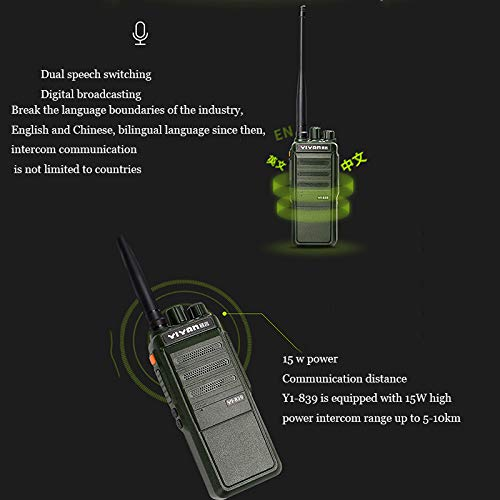 Digital Walkie-Talkie, Walkie-Talkie Rechargeable Long-Distance Walkie-Talkie Noise Reduction Chip Function Dual Channel Switching 15W High Power Battery Life by LDJC (Image #4)