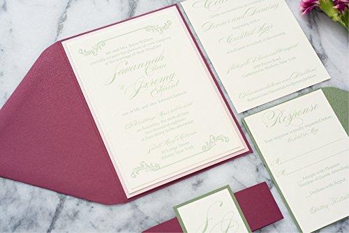 Custom Southern Style Wedding Suite, Fall Wedding Invitation, Bohemian Invitation, Savannah Sample