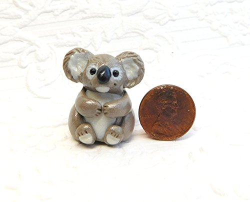 Totem Koala, Koala Bear Totem Sculpture, Koala gift, Koala pocket pal by Raquel at theWRC clay