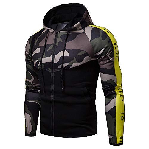 Zipper Homme A Camouflage Chemisier Blouson Sweat Capuche Vert a À Respirant T Veste Osyard shirt Vêtements Capuchon Corde 4qwA0