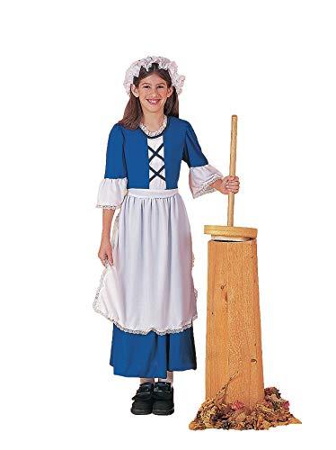 Forum Novelties Kids Colonial Girl Costume, X-Large, Multicolor
