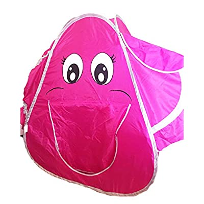 POCO DIVO Fan Ear Elephant Tent 2pc Pop-up Pink Toy Dome Kids Long Nose Play Tunnel Toddler Crawl Tube: Toys & Games