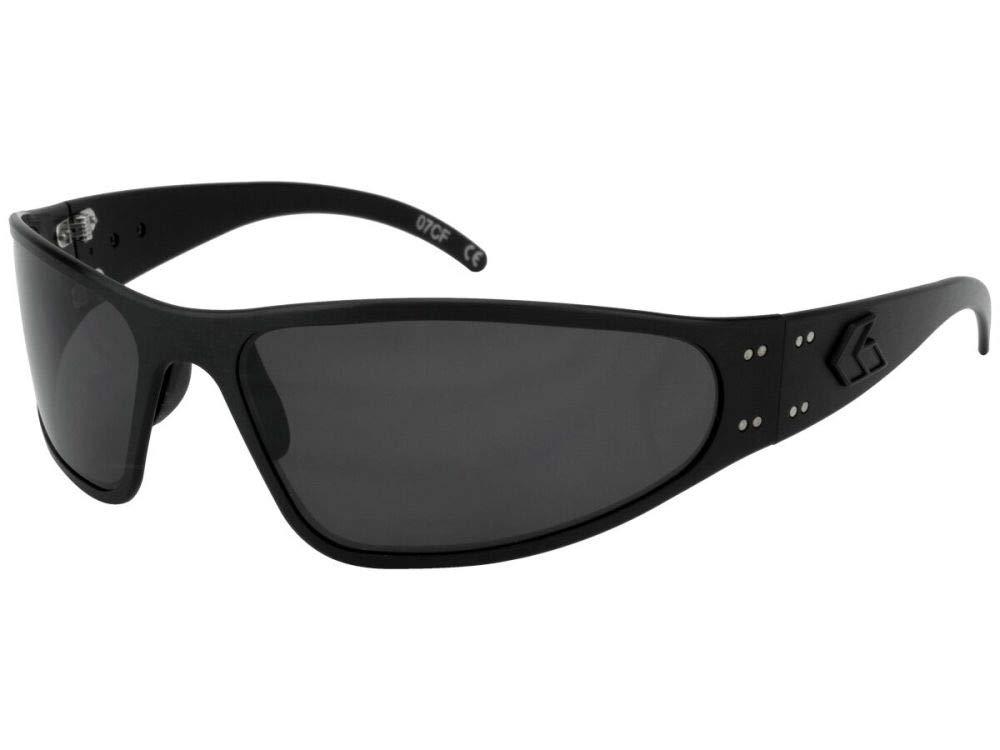 Gatorz Eyewear, Wraptor Model, Aluminum Frame Sunglasses -  Blackout Tactical Style/Smoked Polarized Lens by Gatorz