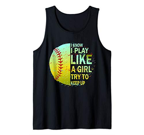 (Softball Shirt for Girls & Women Tank Top)