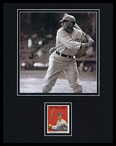Shoeless Joe Jackson 11x14 Framed 1916 Cracker Jack Repro & Photo Set (Shoeless Joe Jackson Framed Photo)