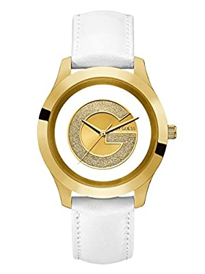 G by GUESS Women's Gold-Tone and White Watch