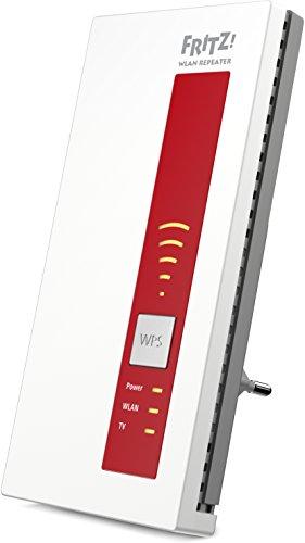AVM FRITZ!WLAN Repeater DVB-C (Dual-Tuner für Kabel-TV (DVB-C), WLAN AC + N bis zu 1.300 MBit/s (5 GHz) + 450MBit/s (2,4 GHz))